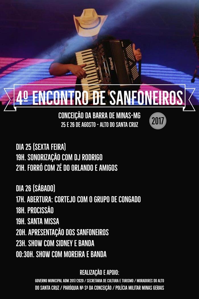 Cartaz 4 Encontro de Sanfoneiros 2017