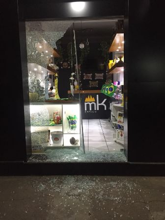 Loja próxima ao Baaco do Brasil foi atingida